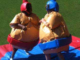 Défi aventure EVG avec combat de sumos spécial EVG