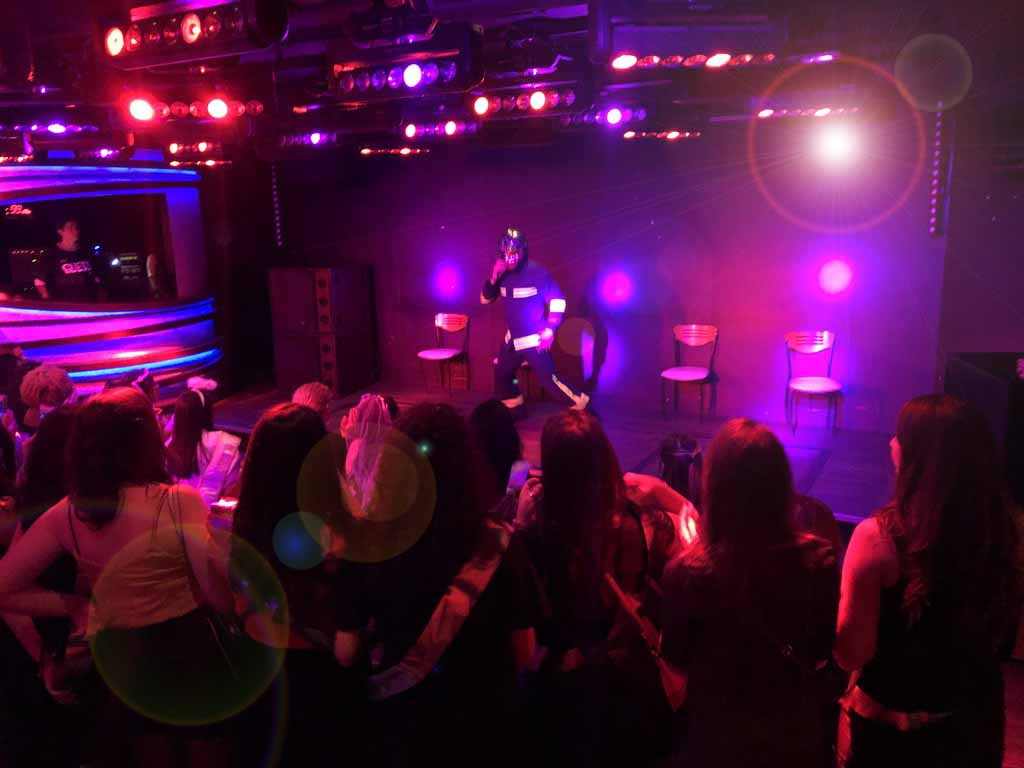 Soirée EVG paris spectacle des Glamour boys au Duplex