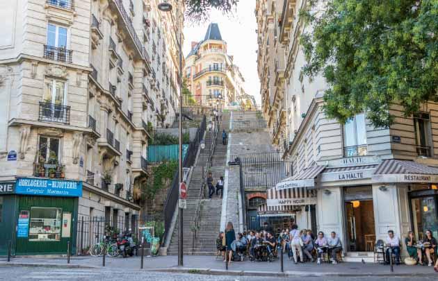 Panoramique montmartre pour une pause enterrement de vie de garçon à Paris.